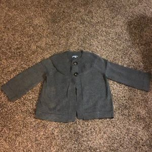 Small two button 3/4 slv cardigan